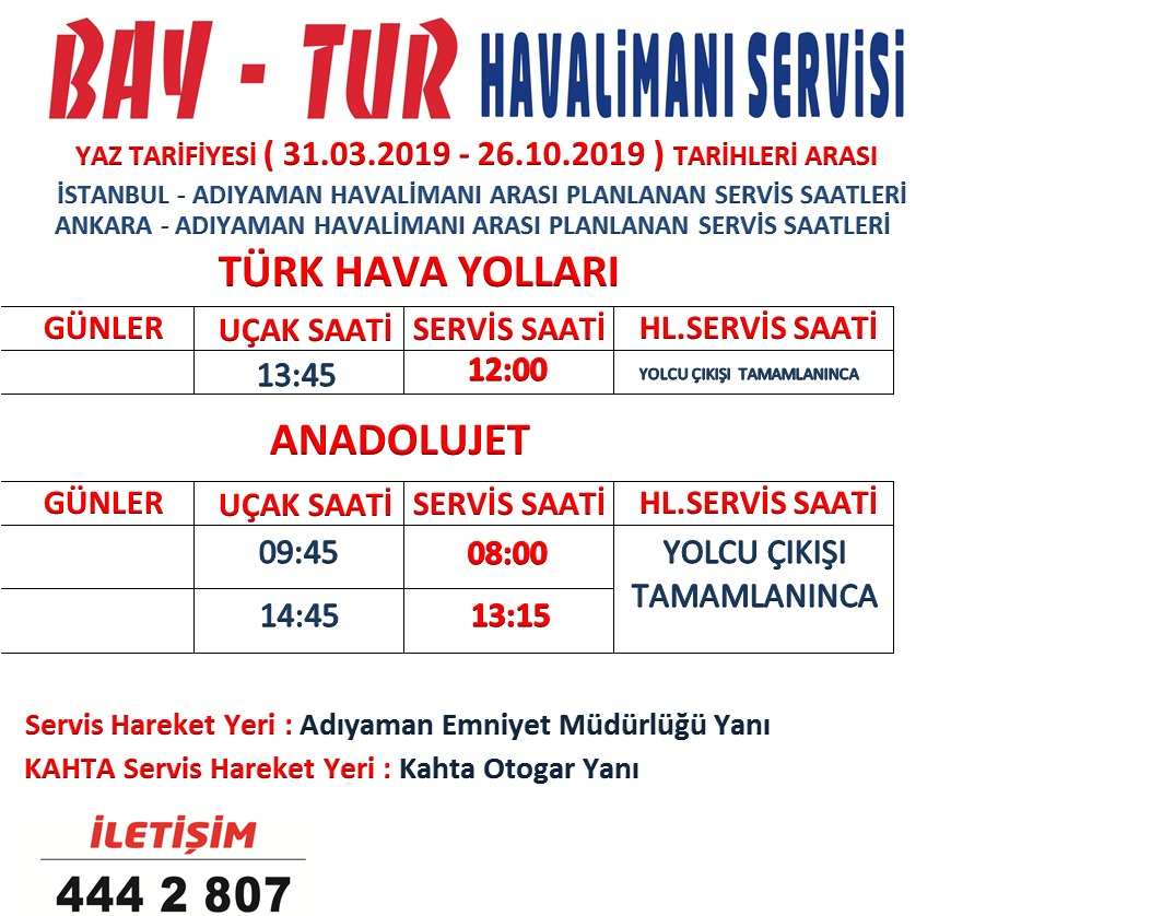 Adıyaman Havalimanı Servisi (Veka Tours)